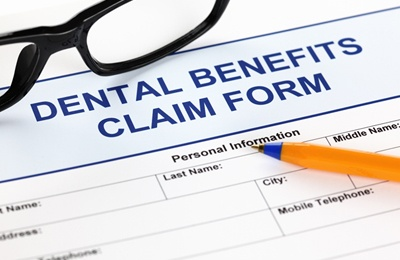 A dental benefit claim form