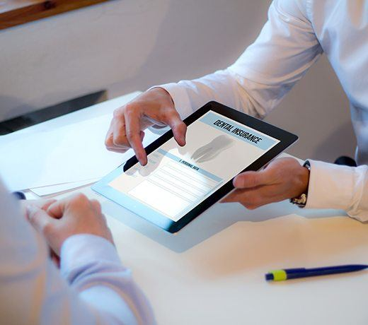 insurance on tablet